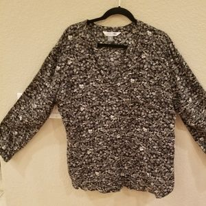 Old Navy Black & Gray Blouse